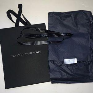 David Yurman gift bag, ribbon and tissue paper